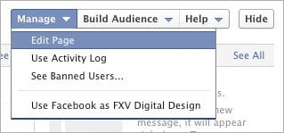 Facebook Timeline For Pages Edit